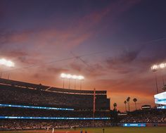 """THINK BLUE: It happened it finally happened. I had my first panic attack at my happiest place on earth. So here I was last night enjoying this gorgeous sunset at @dodgers stadium when I was """"selected"""" as a prize winner and I had to open said prize on camera to come out on the Jumbotron. They said as soon as that inning was over I'd be up. Well that inning took FOREVER & I couldn't hate it more. It was excruciating and I couldn't stop my nerves. After I was eventually on camera I couldn't…"""