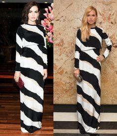 camilla-belle-vs-rachel-zoe-in-gucci-prefall-2014-maxi-dress