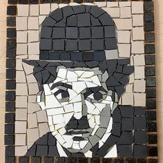 No sooner made than sold – unsurprisingly! Chaplin by Janice – Art Unicorn Mosaic Artwork, Mosaic Wall Art, Mosaic Crafts, Mosaic Projects, Stone Mosaic, Mosaic Glass, Modern Art, Contemporary Art, Mosaic Portrait