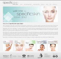 Leisure website design for Specific skin laser clinic