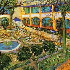 Vincent van Gogh, Giardino dell'ospedale di Arles (1889).