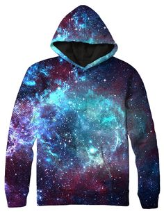 Enter orbit in our eye popping Blue Galaxy Hoodie. Vivid hi-definition colors and 360 print over the ENTIRE surface of the hoodie create the perfect jumper that you can't go without! - Fabric: 100% Po