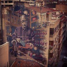 Milu Correch en el barrio Oeste de Salamanca, España