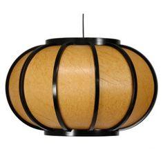 Oriental Furniture Harajuku WDLD054 Hanging Lantern Pendant Light - Pendant Lights at Hayneedle