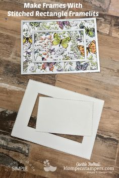 I've got 6 Easy Cards You Can Make in Under 30 Minutes. I'm showing off lovely Designer Series Paper (aka- scrapbook paper)! You'll love these card layouts! Easy Cards, Step Cards, Butterfly Cards, Flower Cards, Bird Cards, Card Making Tutorials, Making Ideas, Birthday Scrapbook, Fancy Fold Cards