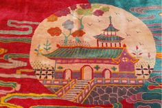 Detail of a Chinese Deco Carpet