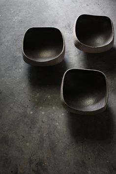 Katsumi Machimura     Squared bowls.