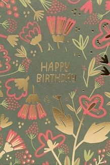 Gold Floral - Birthday Card
