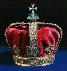 State crown of H.M. King George I. (Frame.)