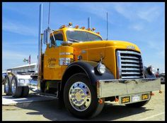 These GMC 950's look fantastic in Canary Yellow! I love everything about these trucks