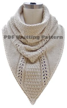************************************************************* THIS IS A DETAILED KNITTING PATTERN WITH INSTRUCTIONS AND PHOTOS NOT THE ACTUAL SCARF. PDF EMAIL DELIVERY INSTANT DOWNLOAD ************************************************************* Pattern Copyright: Patterns are protected by international copyright laws and are intended for personal use only. Other uses are strictly prohibited A stylish combination of a cowl combined with a kerchief in a textured stitch pattern that...