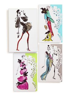 These are so on my wish list; Christian Lacroix Haute Couture Note Card Set