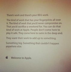 Note Apple employees get their first day of work. Awesome.