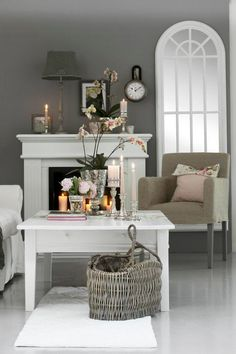gray and white living room.. coffee table inspiration for table redo