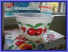 Vintage Fire King Apples Bowl.  Found one today in Oklahoma really cheap.