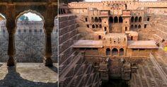 Chand Baori, Índia: O clima no estado indiano de Rajastão é muito seco. Por isso na vila de Dausa, o rei Chanda da dinastia Nikumbha resolveu entre os séculos 8 e 9 unir o útil ao sagrado. Construiu um templo para Hashat Mata, deusa da alegria e felicidade, em um poço de 20 metros de profundidade. A ideia era preservar água nos tempos de seca, já que no fundo a temperatura chega a ser até 6 graus mais frio, evitando a evaporação