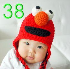 free shipping 20pcs/lot Elmo  Sesame Street hat, Crochet Elmo Kids hat, Infant - Adult Hat, Beanie, Sesame Street Elmo