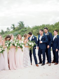 A Mexico Destination Wedding in Playa Del Carmen | Carrie House Photography Bridemaid bouquets
