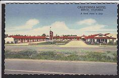 Merced-CA-California Motel-Highway 99-Vintage-Linen Postcard