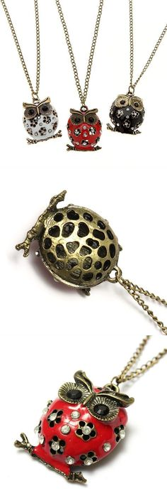 Necklace pendants tiffany vintage owl flower bronze rhinestone crystal enamel pendant chain necklace #lalique #necklaces #pendants #necklace #stamped #pendants #necklaces #and #pendants #necklaces #small #pendants