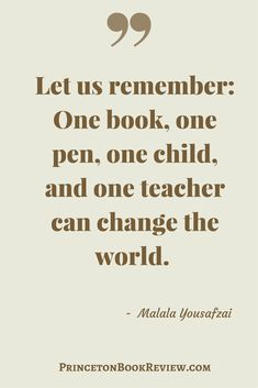 Knowledge is powerful. Education can change a person – a person can change the world . Quotes For The Book Lover! #quotes