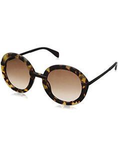 94f31604b4 Marc by Marc Jacobs Women's MMJ490S Oval Sunglasses, Spotted Havana &  Brown Gradient,