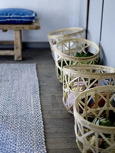 Reminds me of the produce baskets they use here.. where can i get some? ::   via Bloomingville