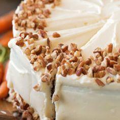 Classic Carrot Cake Recipe - Life Made Simple Classic Carrot Cake Recipe, Best Carrot Cake, Carrot Cakes, Carrot Cake Cheesecake, Cheesecake Bars, Toasted Pecans, Moist Cakes, Dessert Recipes, Desserts