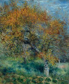 Pierre-Auguste Renoir - Le Poirier, 1870, oil on canvas $866500