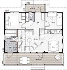 Cottage Floor Plans, Small House Plans, 1 Story House, Weekend House, Beach Cottage Style, Cottage Homes, Beach Cottages, Humble Abode, My House