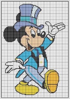 Cross stitch *<3* mickey la classe