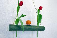 Hängevase Treibholz grün Vase Mobile Fensterdeko von SchlueterKunstundDesign - Wohnzubehör, Unikate, Treibholzobjekte, Modeschmuck aus Treibholz auf DaWanda.com