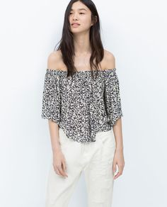 Image 2 of OFF-THE-SHOULDER TOP from Zara