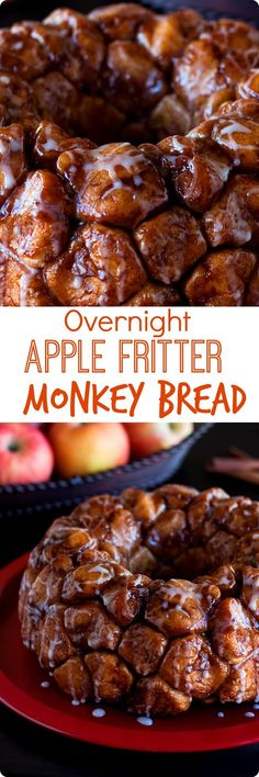 Overnight Apple Fritter Monkey Bread
