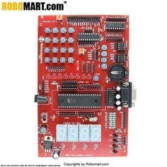 Robomart provides #8051microcontrollerdevelopmentboard at affordable prices. Electronics is a massive stream mostly enticed by the present generation. Researchers are regularly fetching gadgets and experimenting on devices for further improvements in its architecture, compact size and cost amendment.