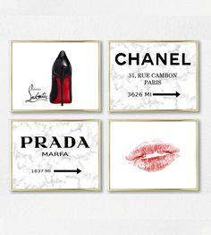 dbb207b2e0101 INSPIRED BY Chanel Fashion Marble Modern Art, lips Fashion, Home Decor,  Fashionista, Marble Fashion Art, Girls Room Decor, Girly Art. #180