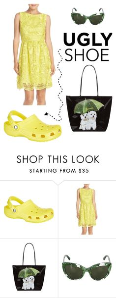 """""""Ugly Shoes"""" by mermadem7 ❤ liked on Polyvore featuring Crocs, Adrianna Papell, Harrods, Dolce&Gabbana, contest, contestentry, uglyshoes, crocs and uglyshoe"""