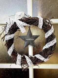 Boho Bonbon: Risukranssi - A twig wreath Twig Wreath, Hanukkah, Wreaths, Halloween, Decor, Candy, Decoration, Door Wreaths, Deco Mesh Wreaths