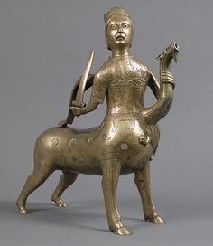 Aquamanile in the Form of a Crowned Centaur Fighting a Dragon, Date: 1200–1225 Geography: Made in possibly Hildesheim, Lower Saxony, Germany Culture: German Medium: Copper alloy