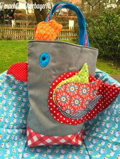 Stoffbeutel, Tasche, bag, tote, marketbag, nähen, sew, Geschenk, gift, present, Plastik vermeiden, no plastic, Stoff, fabric, cloth, Baumwolle, avoid plastic,