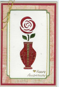 vase w/rose