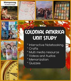 Free Unit Study: Early American History Colonial Period