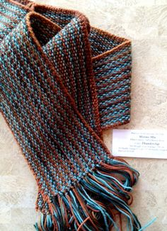 Linen Stitch Scarf - switch colors every row