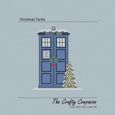 Christmas Tardis - Doctor Who/Tardis Inspired PDF Cross Stitch Pattern. $4.00, via Etsy.
