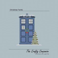 Christmas Tardis - Doctor Who/Tardis Inspired PDF Cross Stitch Pattern. $4.00, via Etsy.