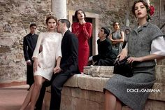 I love this ad campaign, and all of the crazy clothes in it. Dolce Fall 2013 Ad Campaign