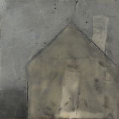 Cherie Mittenthal, Cottage at Dusk, 2013, Encaustic on Panel, 2014, 6x6, Kobalt Gallery, Provincetown, MA