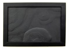 """Tabula Rasa"", found board damaged by water, 35x24 cm, Jennifer Oellerich 2010"