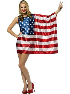 Check out Women's USA Flag Costume - Wholesale Patriotic Costumes from Wholesale Halloween Costumes
