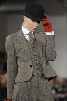 The Downton Abbey effect... Ralph Lauren Autumn/Winter 2012...
